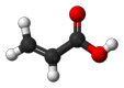 acrylic acid atom structure