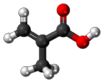 methacrylic acid atom structure