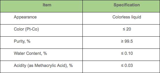n-butyl methacrylate (n-bma) specs