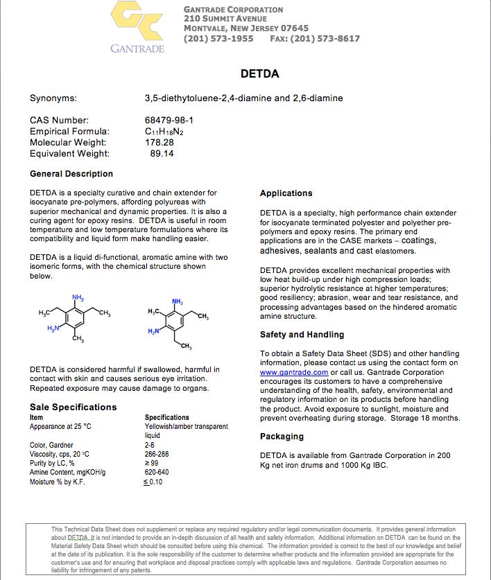 DETDA | Diethyltoluenediamine | Gantrade